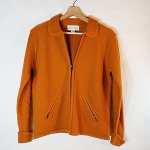 Casual Corner Annex  Small Zip Up Cardigan Orange